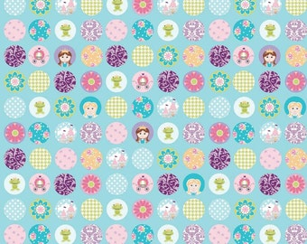 Dream and a Wish - Dream Dots Blue, by Sandra Workman, from Riley Blake, 1 yd