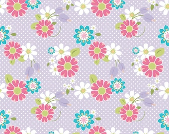 Dream and a Wish - Dream Floral Purple, by Sandra Workman, from Riley Blake, 1 yd