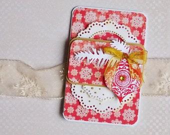 Handmade Christmas Card, handmade greeting card, stars