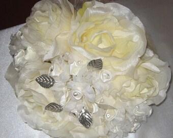 Vintage style silk wedding bouquet