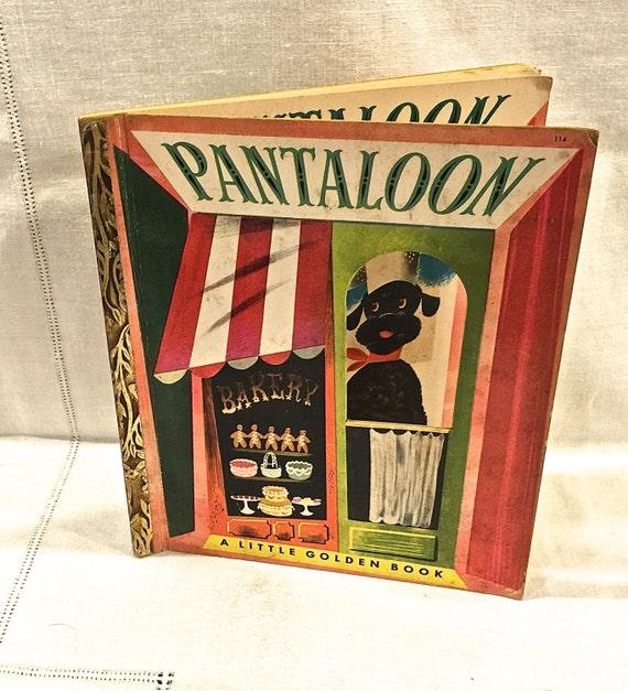 Rare Little Golden Book Pantaloon A Little Golden Book 114 border=
