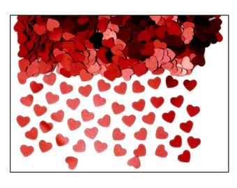 Red Hearts table confetti, weddings, wedding supplies, wedding decorations, table decorations, UK seller
