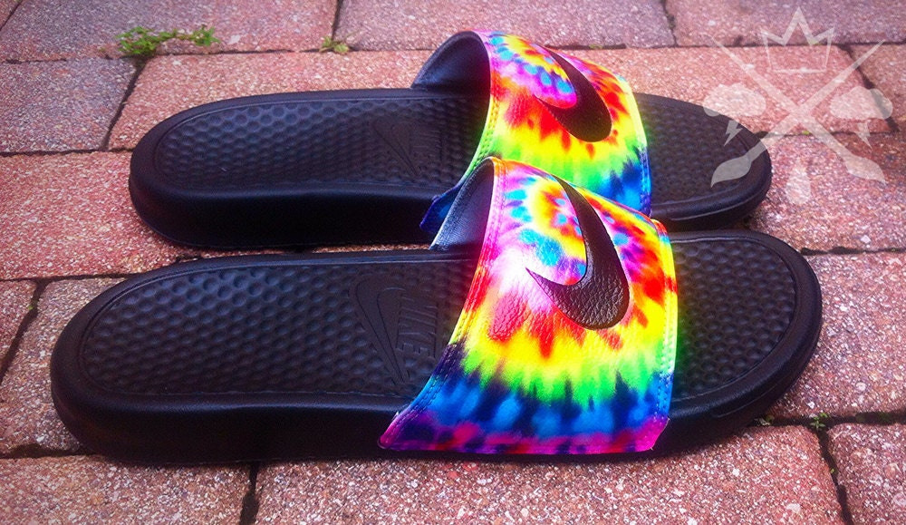 Nike Custom Trippy Tie Dye Psychedelic Hippy Swirl Benassi