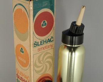 Czechoslovakia Toner Cream Beater Whisk Bottle