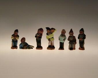 Antique Johann Maresch Terracota 7 Dwarves