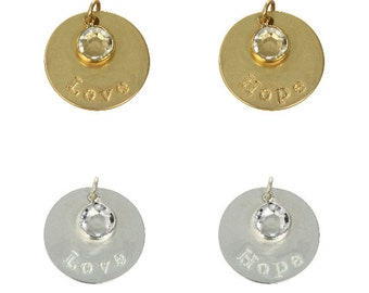 24mm Love & Hope Inspirational Disc Charm (3pc)