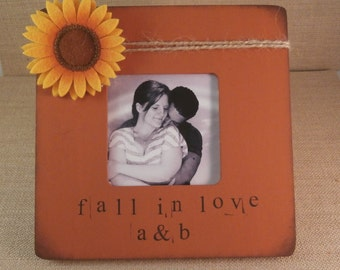 Fall decor, orange picture frame
