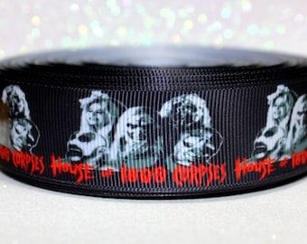 "1"" House of 1000 Corpses Ribbon - Rob Zombie Ribbon - Horror Ribbon - Movie Ribbon - Ribbon by the yard"