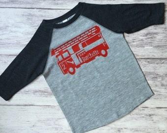 Firetruck birthday shirt, Fireman birthday shirt, Firetruck t-shirt, fire truck shirt, firetruck birthday party