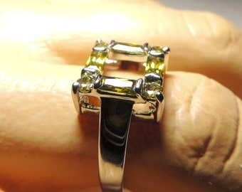 Sterling Silver color change stone ring