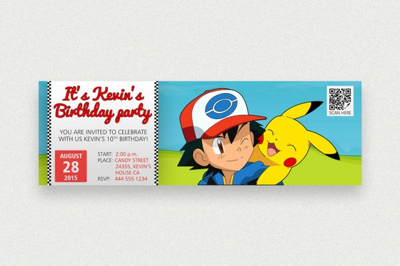 Pokemon birthday party printable invitations page three for Where can i buy party invitations