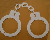 "Window Decal, Handcuffs, 4"" x 3"", ST-006a"