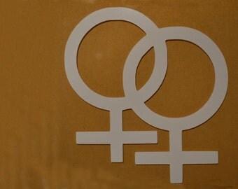 "Window Decal, Lesbian, 8"" x 8.5"", ST-009c"