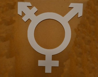 "Window Decal, Transgender, 8"" x 9"", ST-014c"