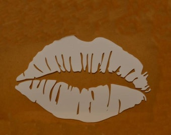 "Window Decal, Lips, 4"" x 2.5"", ST-018a"