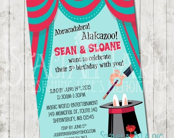 Magic Show Birthday Invitation