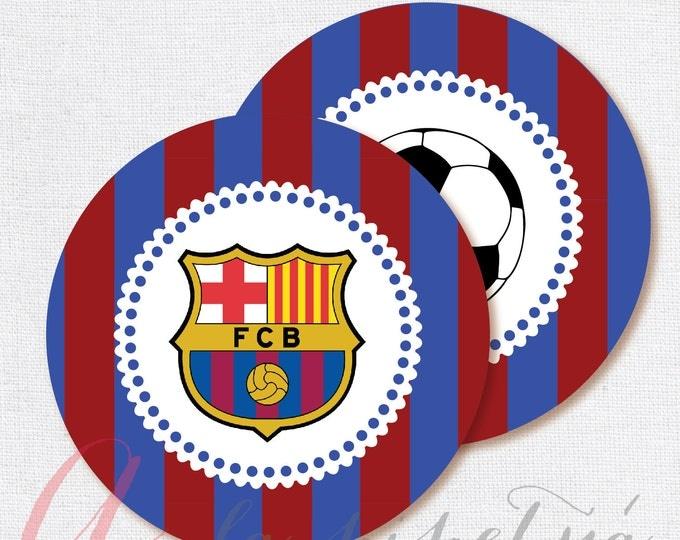 Barcelona printables. Printable Soccer Centerpiece. Barcelona decoration. Barcelona centerpiece. INSTANT DOWNLOAD