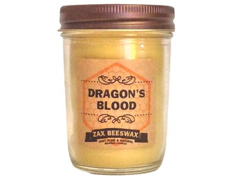 Dragons Blood Scented Beeswax Mason Jar Candle | 8 oz