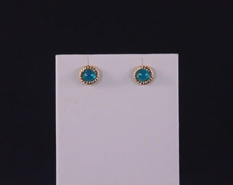 Neon Apatite Stud Earrings