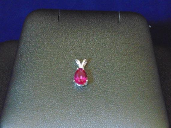 lab created ruby pendant. Black Bedroom Furniture Sets. Home Design Ideas