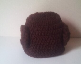 Crochet Leia hat, baby Leia hat, newborn Leia hat, leia hat, starwars hat, princess Leia hat, starwars baby