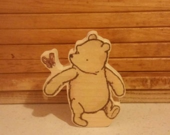 Winnie-the-Pooh Character - Hand Made Wooden Character - Classic Pooh