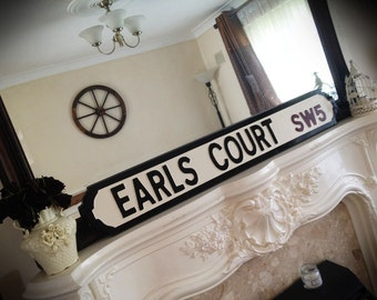 Earls Court Old Fashioned London Street Sign