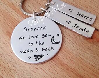 personalised grandad gifts, grandad keyring, gift for grandad, gifts for dad, personalised keyring, gifts for him, mens gifts, grandparents,