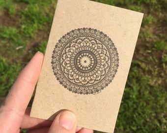 Mandala mini greeting card with envelope