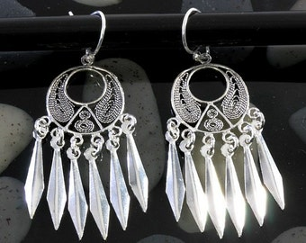 Filigran earrings 925 sterling silver  --  3518
