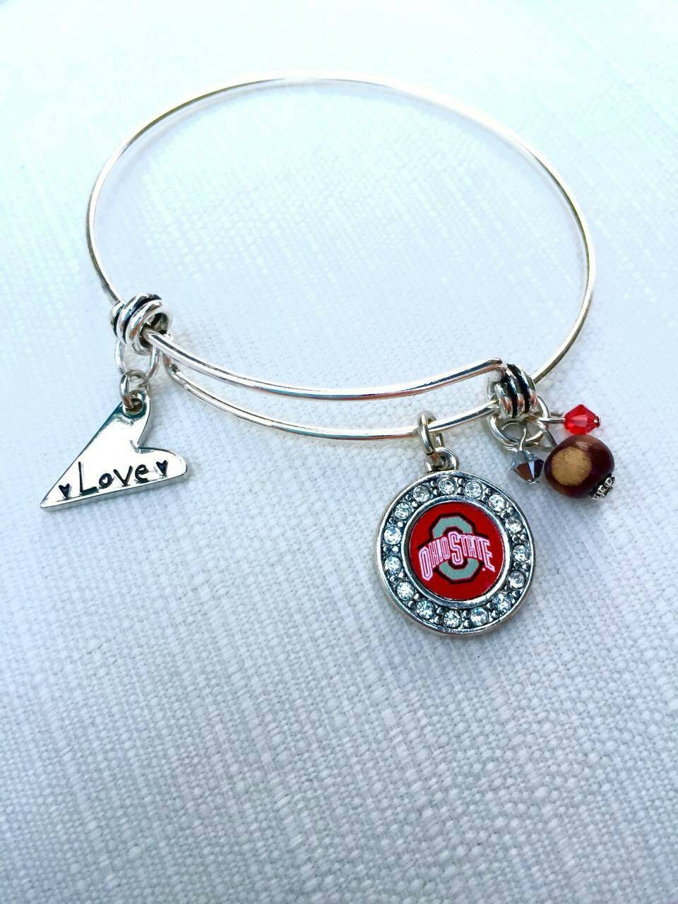 ohio state earrings ohio state buckeye bracelet officially licensed jewelry 7673