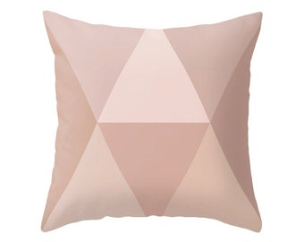blush pink pillow pink Geometric pillow Mid-century pillow blush pink cushion blush cushion pink pillow pink blush pillow blush decor