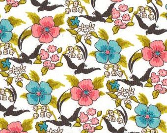 Cloud 9 Maman Chinoiserie Organic Cotton fabric REMNANT