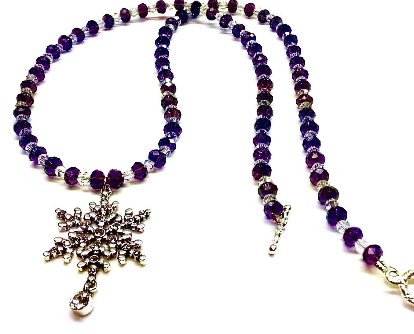 s swarovski snowflake necklace by wallacefamilydesigns