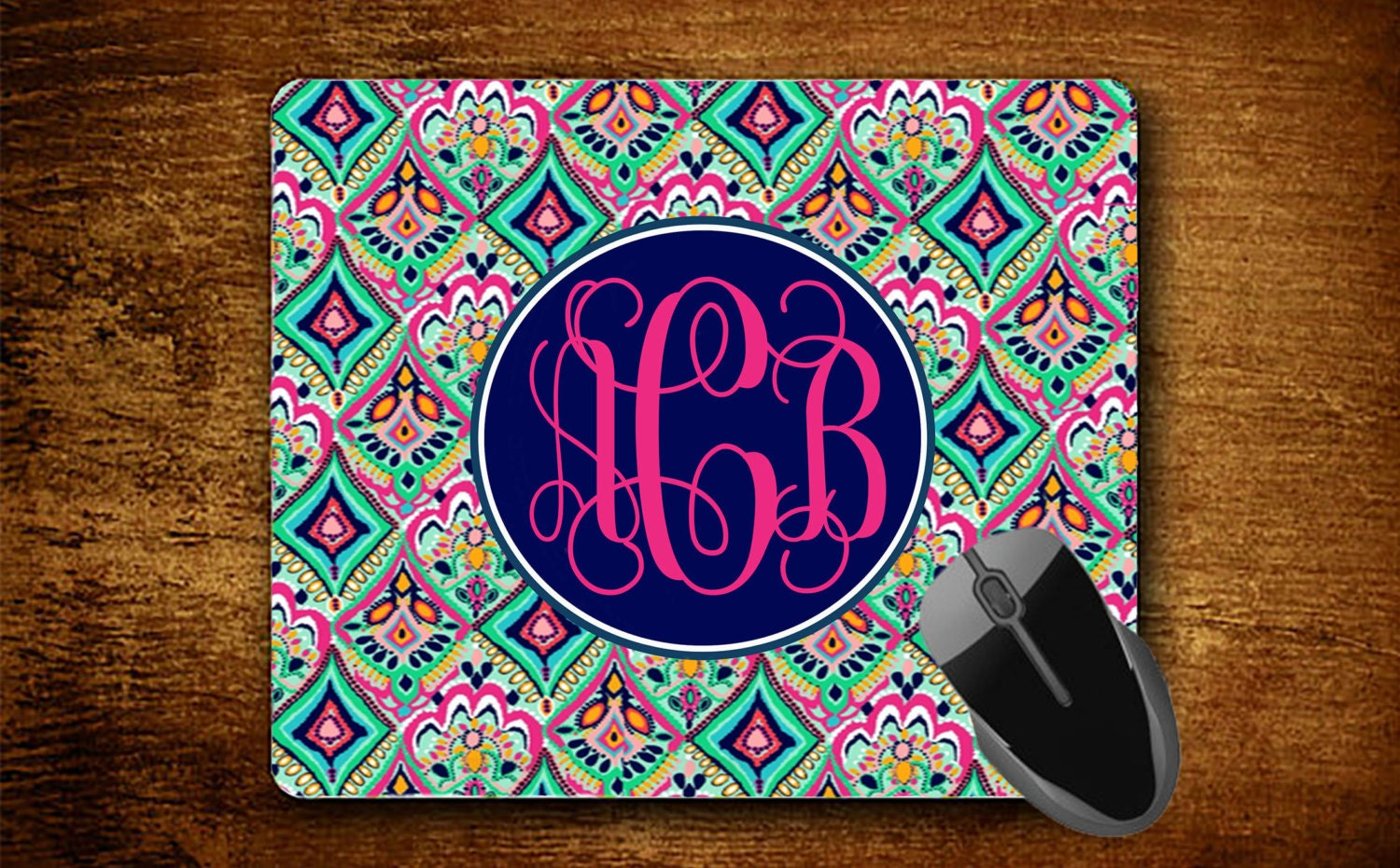 custom mousepad customized monogrammed mouse pad personalized