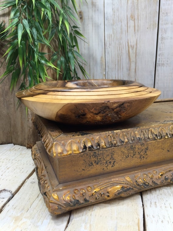 Wooden bowl Decorative Wood Bowl Home Decor Bowl Primitive