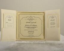 Gatefold Invitation Box / Silk Invitation Box / Boxed Wedding Invitation