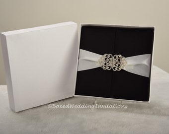 Invitation box gatefold invitation boxed wedding invitation - Gatefold Invitation Box Silk Invitation Box Boxed Wedding