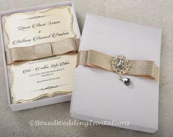 silk invitation box  etsy, invitation samples