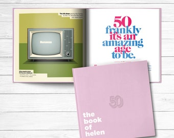 50th birthday Personalized Gift Book of Everyone Powder Pink Cover