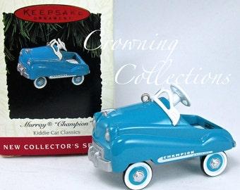 1994 Hallmark Kiddie Car Classics Murray Champion Ornament Keepsake Christmas Peddle Car Christmas Vintage Metal