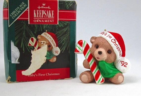 1992 Hallmark Baby's First Christmas Keepsake Ornament