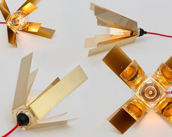 LJ LAMPS lambda double - lamp made of brass