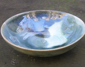 Bowl with blue and green glaze