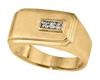 10k Yellow Gold Men's Ring (R516)