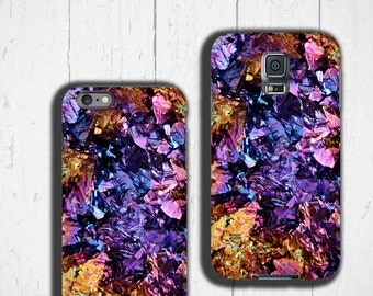 Chalcopyrite Samsung Galaxy S8 case colorful iPhone 6s case crystal iPhone 7 case gemstone phone case Mineral Galaxy Note 5 case Geode druse