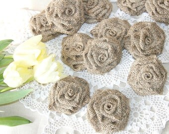 Burlap Flowers, Rustic Wedding, Burlap Wedding, Shabby Chic, Wedding Decor, Burlap Roses, Home Decor. Country Wedding, Wedding Decoration