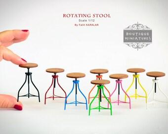 miniature modern furniture. wonderful modern miniature american iron barstool rotating rotate bar stool vintage  dollhouse kitchen modern furniture chair tabouret on modern furniture c