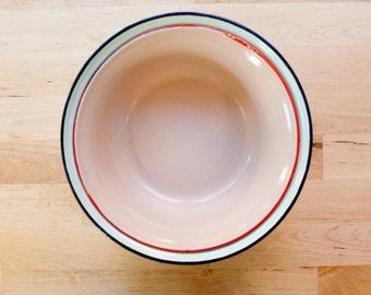 Light Blue and Pink Enamel Bowls