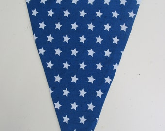 Blue Banner with White Stars, Birthday Banner, Home Decoration Banner, Party Garland